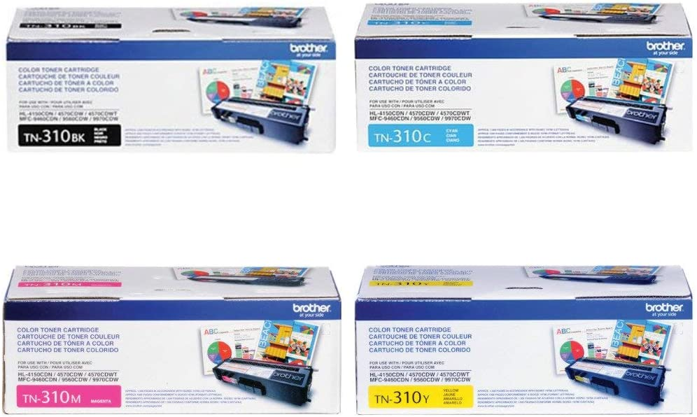 by Brother Black,Cyan,Magenta,Yellow , Brother TN310 Toner Cartridge