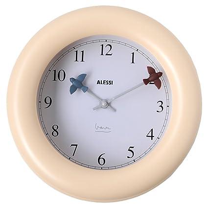 Alessi - 10 - Kitchen clock Orologio da parete in ABS, bianco avorio.  Movimento al quarzo.