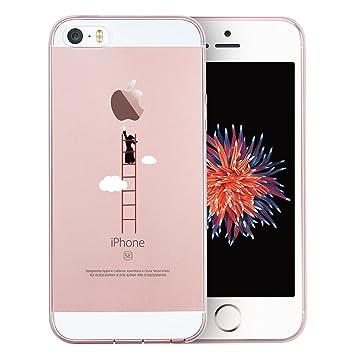 esr iPhone SE/5/5s Funda, Suave TPU Funda Adorable Parachoques Funda Case Cover Carcasa para iPhone 5 / iPhone 5s / iPhone SE, Escalerilla Nube
