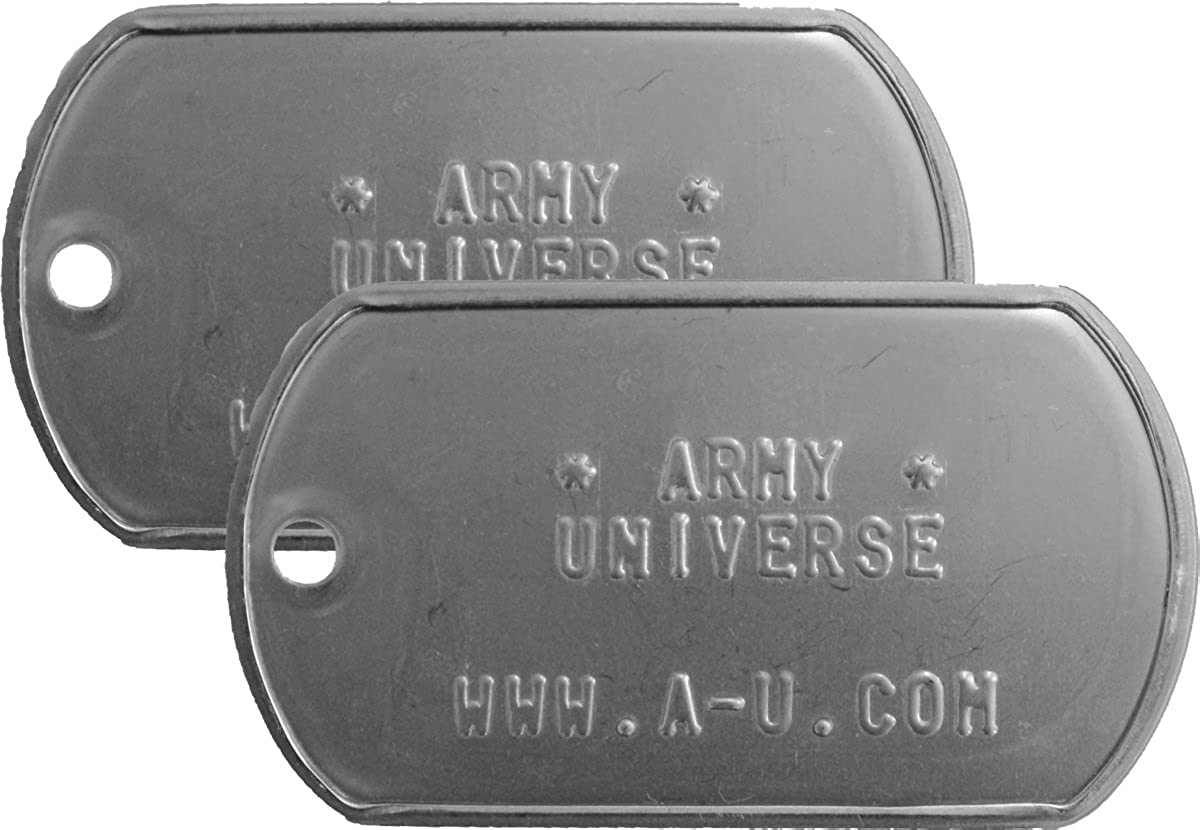 Amazon.com  2 Matte Custom Stainless Steel Dog Tags  Clothing 134f0e25ed1
