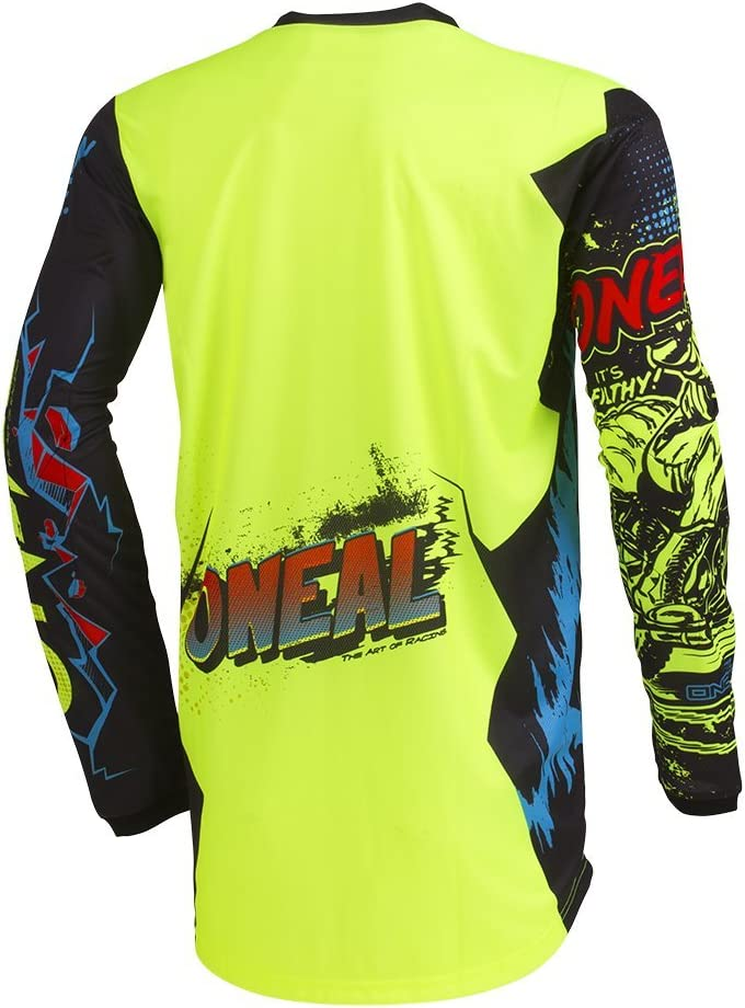 ONeal 002E-904 Unisex-Child Youth Element Jersey VILLAIN Neon Yellow, Large
