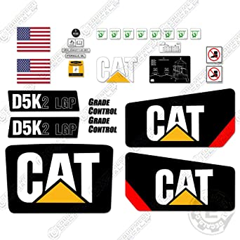 CATERPILLAR CAT D6K LGP BULLDOZER DECAL STICKER SET