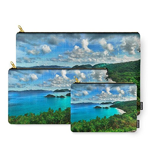 Society6 Caribbean Beach Trunk Bay, St. John Carry-All Po...