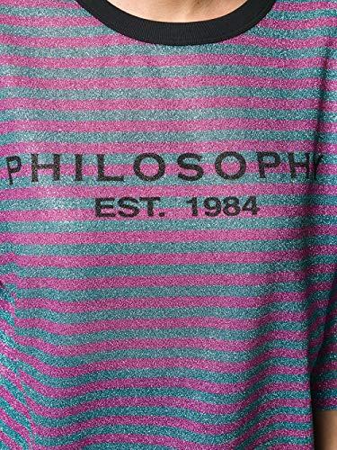 Donna Fucsia Philosophy T Cotone shirt A07157291334 gEvqwFv