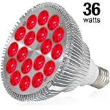 Deep Red 660nm 36W LED Grow Light Bulb, FAMURS Grow Lamp for Indoor Plants, Plant Light Bulb for Indoor Garden Greenhouse and Hydroponic Plants