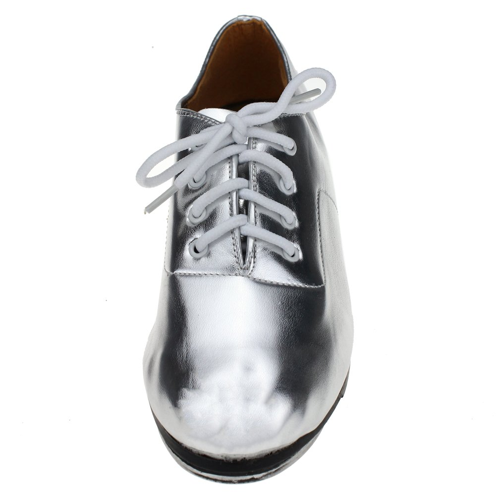 MSMAX Adult Lace Up Tap Dance Shoe DA02