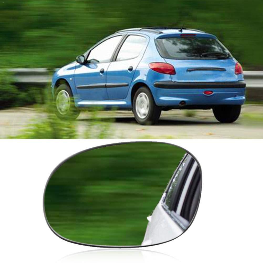 Hutiee Face Gauche c/ôt/é Passager N//S Grand Angle Verre Miroir pour Peugeot 206 1998-2010