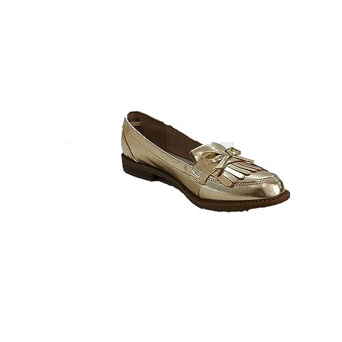 XTI - Mocasines de Material Sintético para Mujer Dorado Size: 39 EU: Amazon.es: Zapatos y complementos