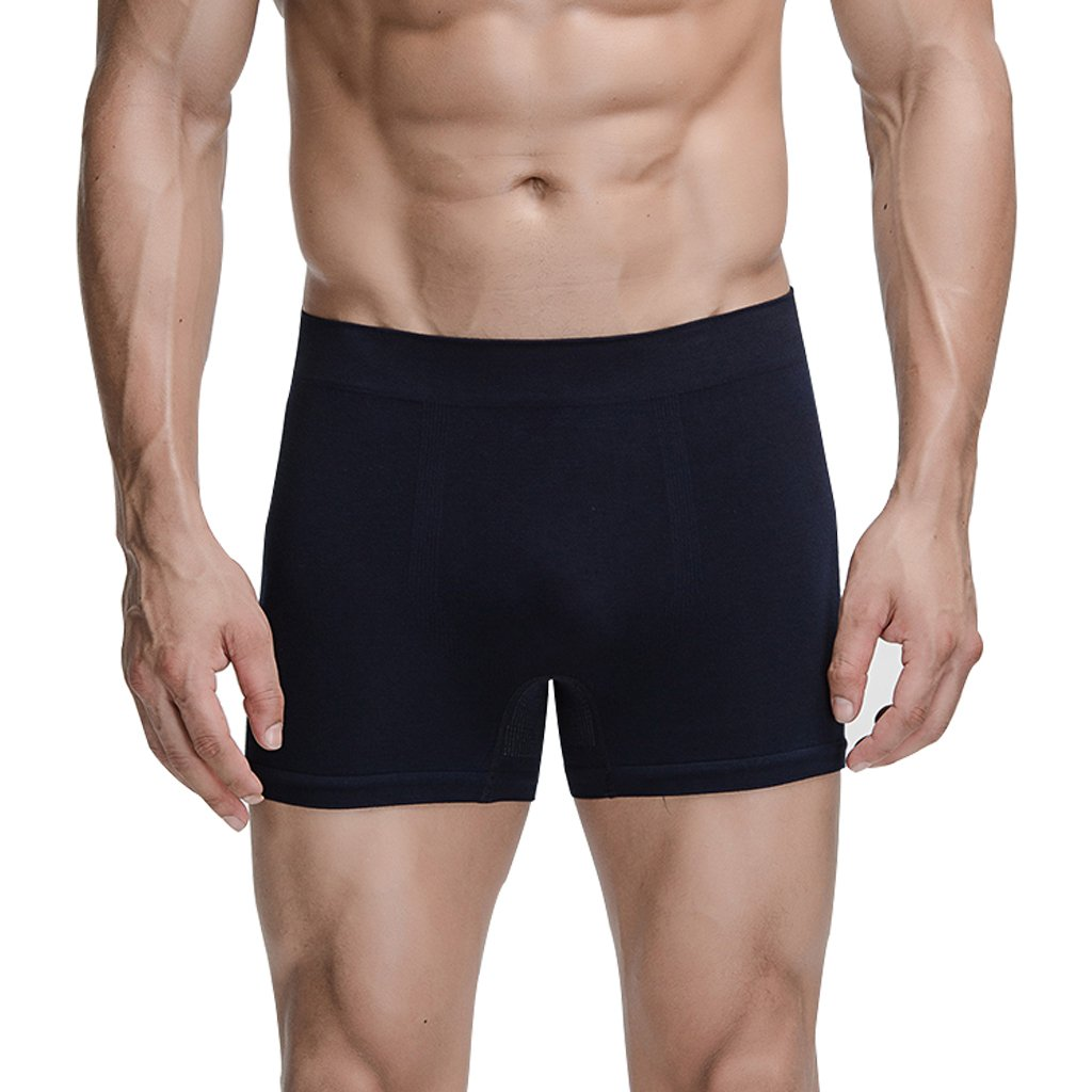 J/&Q Copper Infused Mens Seamless Underwear Bamboo Fiber Boxers Briefs 1,2,3,4 Pack