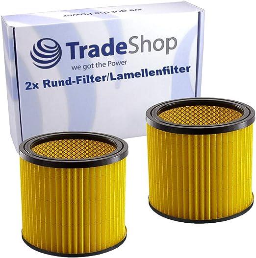 2 filtros redondos/láminas de repuesto 2351113 para Einhell RT-VC ...
