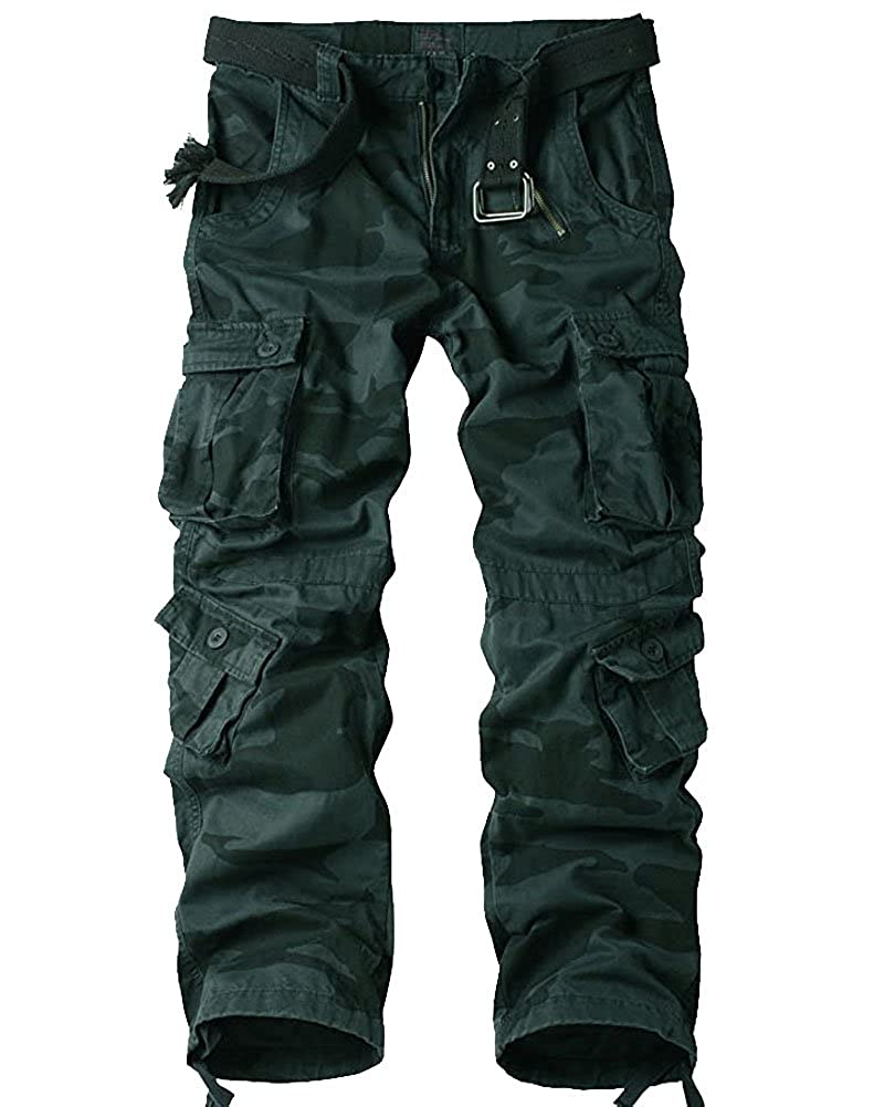 Men's Steampunk Pants & Trousers Mens BDU Casual Military Pants Cotton Camo Tactical Wild Combat Cargo ACU Rip Stop Trousers with 8 Pockets  AT vintagedancer.com