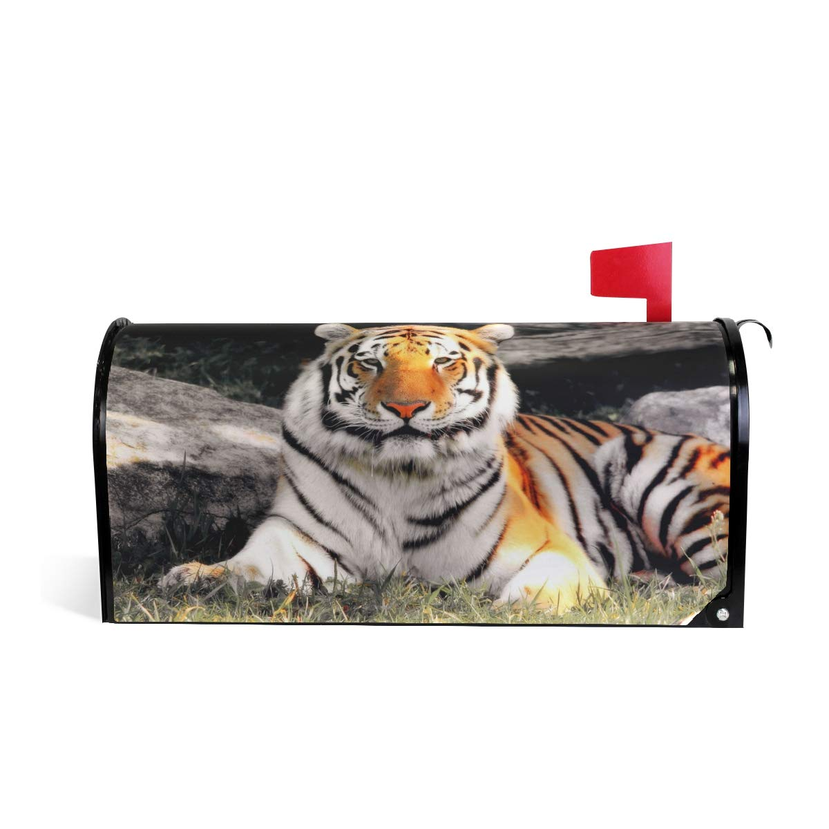 CPYang Cool Animal Tiger Magnetic Mailbox Cover for Home Garden Yard Deco Makeover Mail Wrap