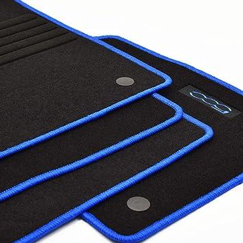 2013 blau Mattenprofis Velours Logo Fu/ßmatten f/ür FIAT 500 500 C Cabrio ab Bj