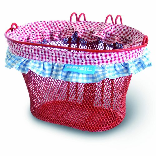 Basil Kinder Fahrradkorb Jasmin Farm-Basket, Red, One Size, 30110