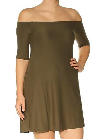 Amazon Com Planet Gold Womens Juniors Knit Ruffled Casual Dress