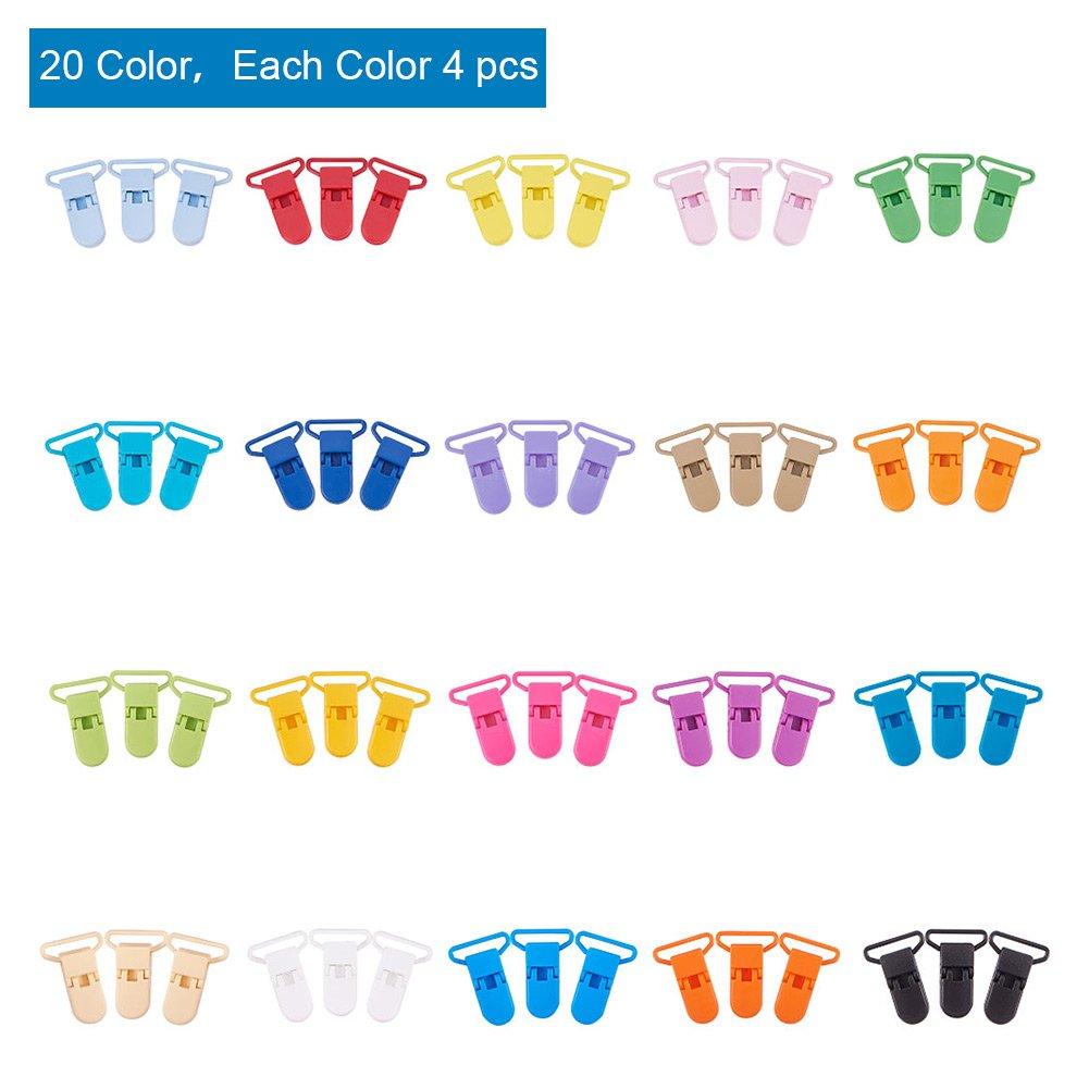 7 Colores Mezclados PandaHall Elite 70 Pcs Pinzas de Bolsa de Comida para Almacenamiento,Pinzas de Almacenamiento de Comida Casera