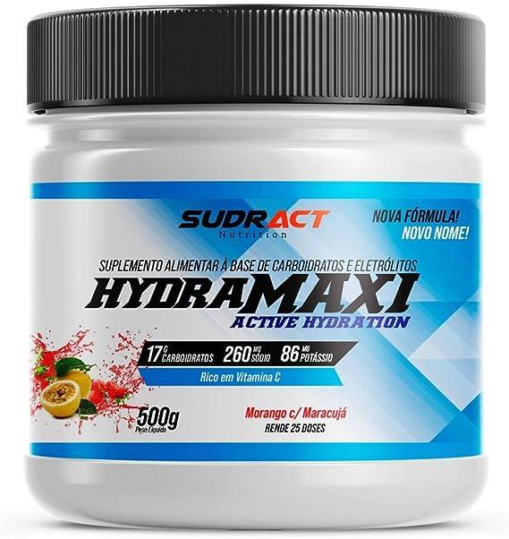 Hydramaxi Isotônico em Pó - 500G Morango com Maracujá - Sudract Nutrition, Sudract