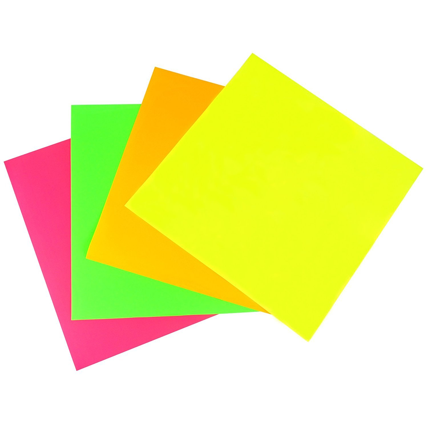30.5cm x 30.5cm Heat Transfer Vinyl Sheets Iron On HTV Heat Press - For Fabric, Clothing T-shirts Decoration Permanent Craft Project DIY - 4 Pack of Assorted Fluorescent Colours SWINTENG