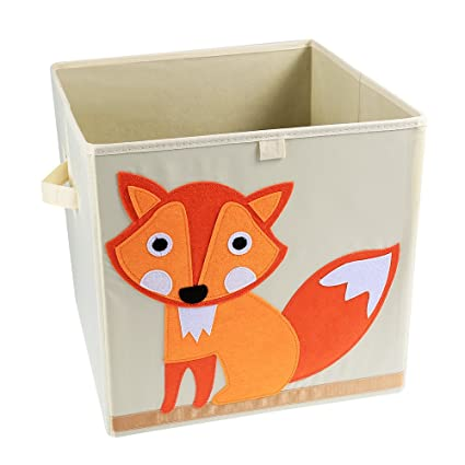 LEADSTAR Plegado Niños Juguetes Caja de almacenaje Animal Caja No Tejidos Organizador sin Tapa 33x33x33cm (