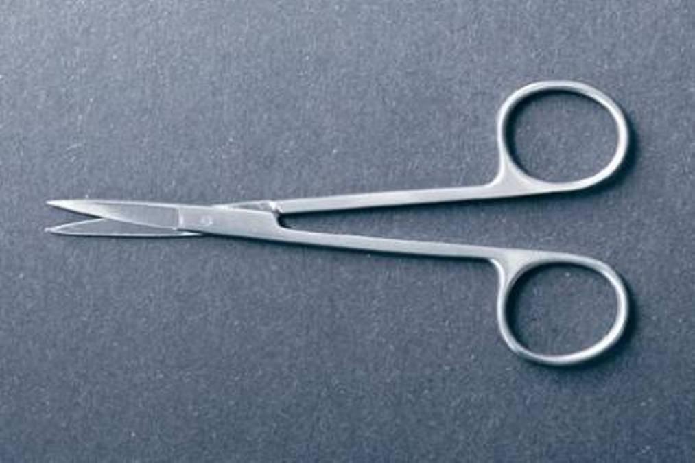 McKesson 43-1-104 Iris Tissue Scissor, Straight, 4-1/2'' Length, 4.5'' Length