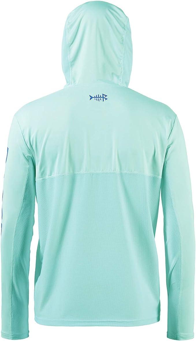 Bassdash Herren Kapuzenpullover Shirt Sonnenschutz UPF50 UV Pullover Langarm Hoodie f/ür Angeln Schwimmen Rash Guard