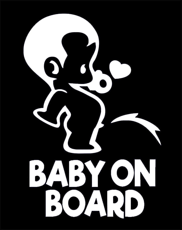 Juego de 2 Peeing Boy ALI-035 TOTOMO Etiqueta engomada de Baby on Board - Se/ñal de calcoman/ía de precauci/ón divertida y linda para ventanas y parachoques de autom/óviles