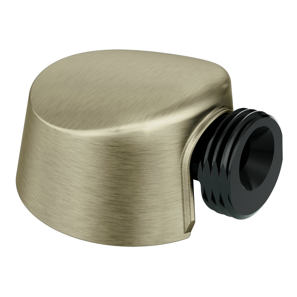 Moen A725BN Round Drop Ell Handheld Shower Wall Connector, Brushed Nickel