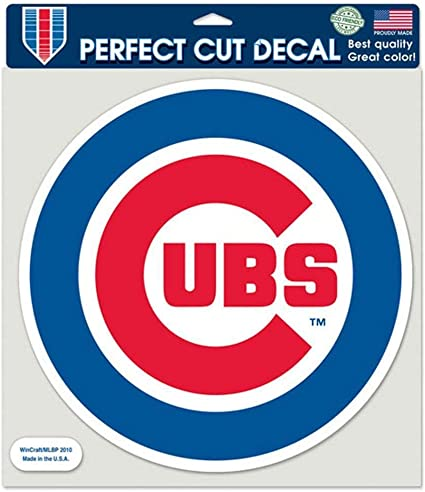 8x8 Color Round Chicago Cubs Die-Cut Decal