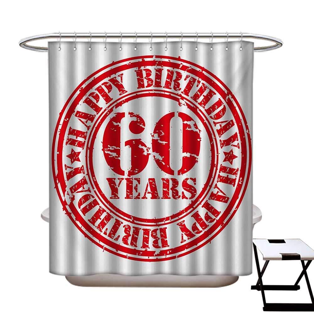 Cortina de ducha de 50 cumpleaños para decoración de baño ...