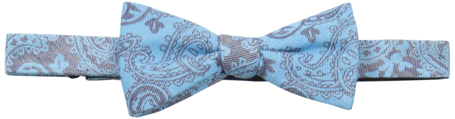Tommy Bahama Men's Urban Paisley Bow Tie and Solid Pocket Square Set,Blue,One Size by Tommy Bahama