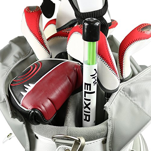 Swing Golf Stick (2 Sticks, The Elixir Golf Practice Training Aids Swing Plane Putting Drills Alignment Trainer, Green)