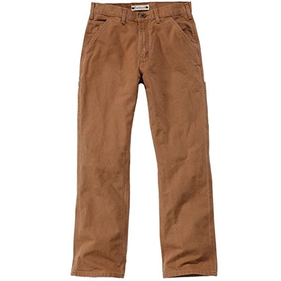 da3be4ee04c Carhartt Eb011 Mens Washed Duck Work Wear Trousers Pant: Amazon.co.uk:  Clothing