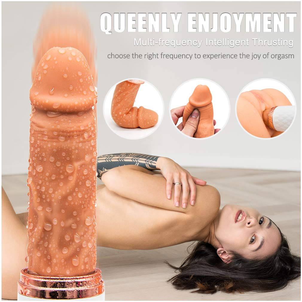 Large Size Silica Gel Realistic Did-lo Oral Simulator Waterproof Oral Tongue Thrusting Heating Vibrate Toy Clitorial for Women Men Gay Soul Mate Beginners Study,Self Pleasure ToysT-Shirt