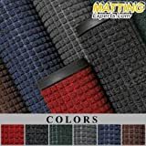 MattingExperts Entrance Runner Water Absorbing Carpet-like Rug Waffle Pattern Mat 1/4 thick for Hotels Office Lobby Entranceway Hallway 0S053 (3'x10', Slate Blue)