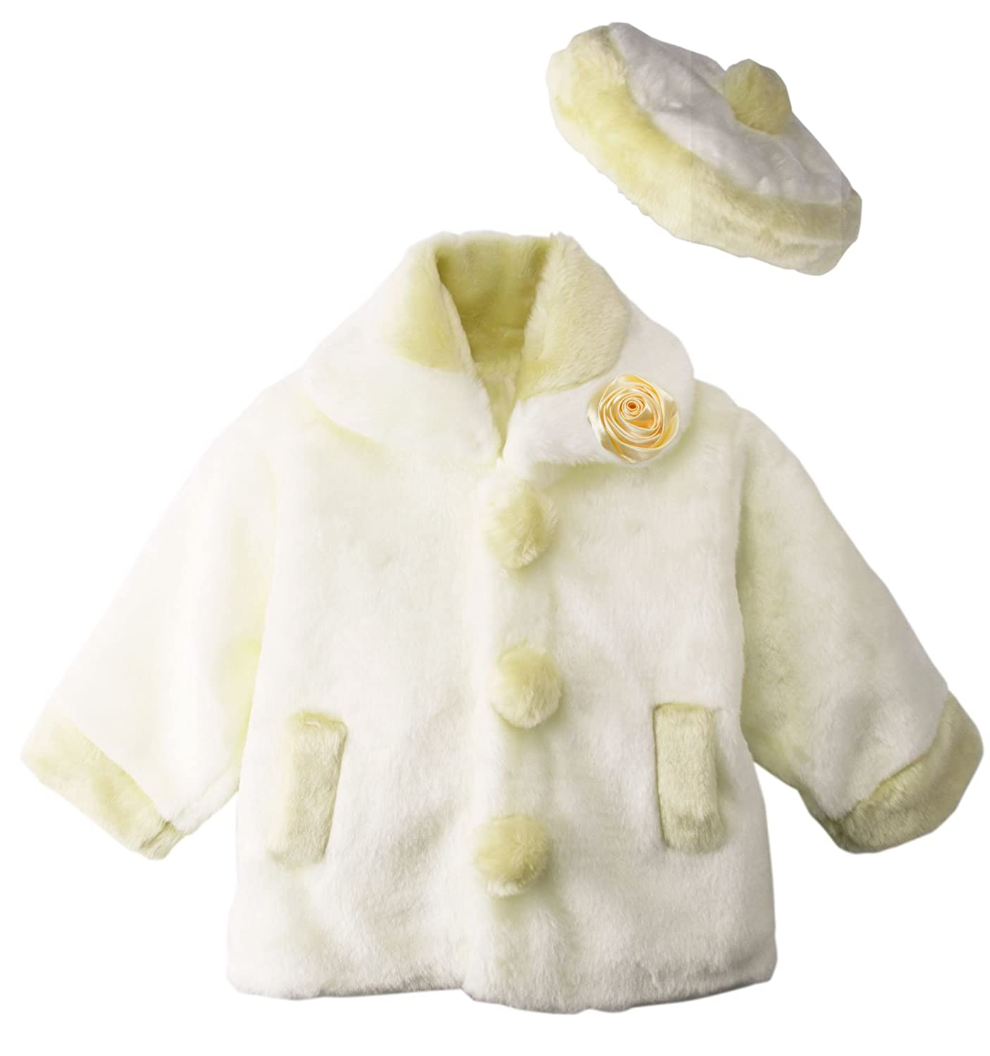 18abccfb3e90 Amazon.com  Spring Notion Little Girls Faux Fur Coat with Hat  Clothing