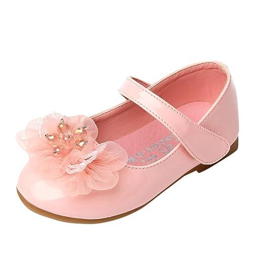 Lopetve Zapatos para Niña Zapatillas Sandalias Merceditas Mary Janes Chicas  Tamaño (2~7 años) Rosa 30  Amazon.es  Zapatos y complementos b140eebd21a93