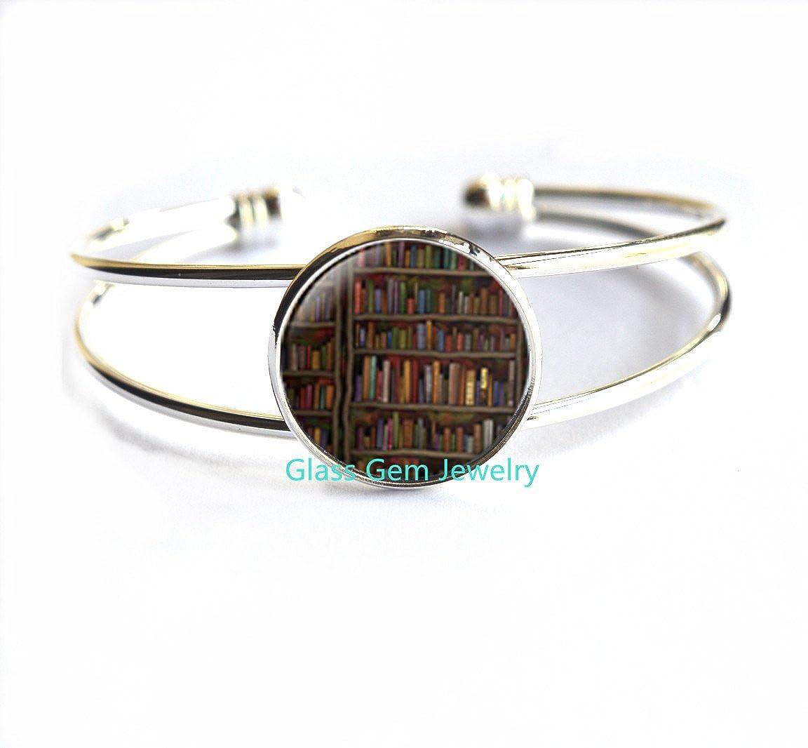 Shabby Bookshelf Bracelet Antique book Bracelets book Bracelets book jewelry book jewelry librarian gift book lover gift book Bracelet,Q201