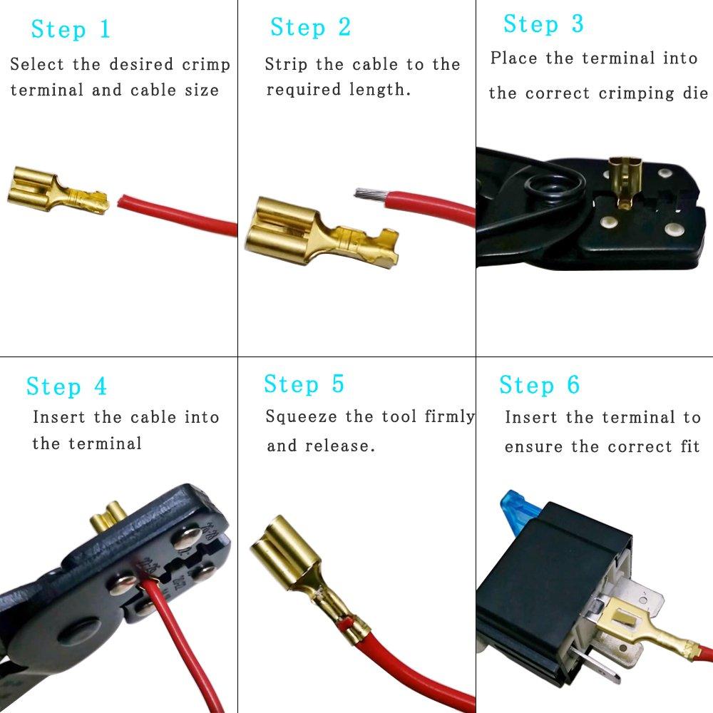 ManYee 150Pcs Terminales Faston Hembra 2.8 mm 4.8 mm 6.3 mm Kit Conectores Faston Terminales Electricos de Crimpado con Aislante Manga para el Altavoz de Audio del Coche