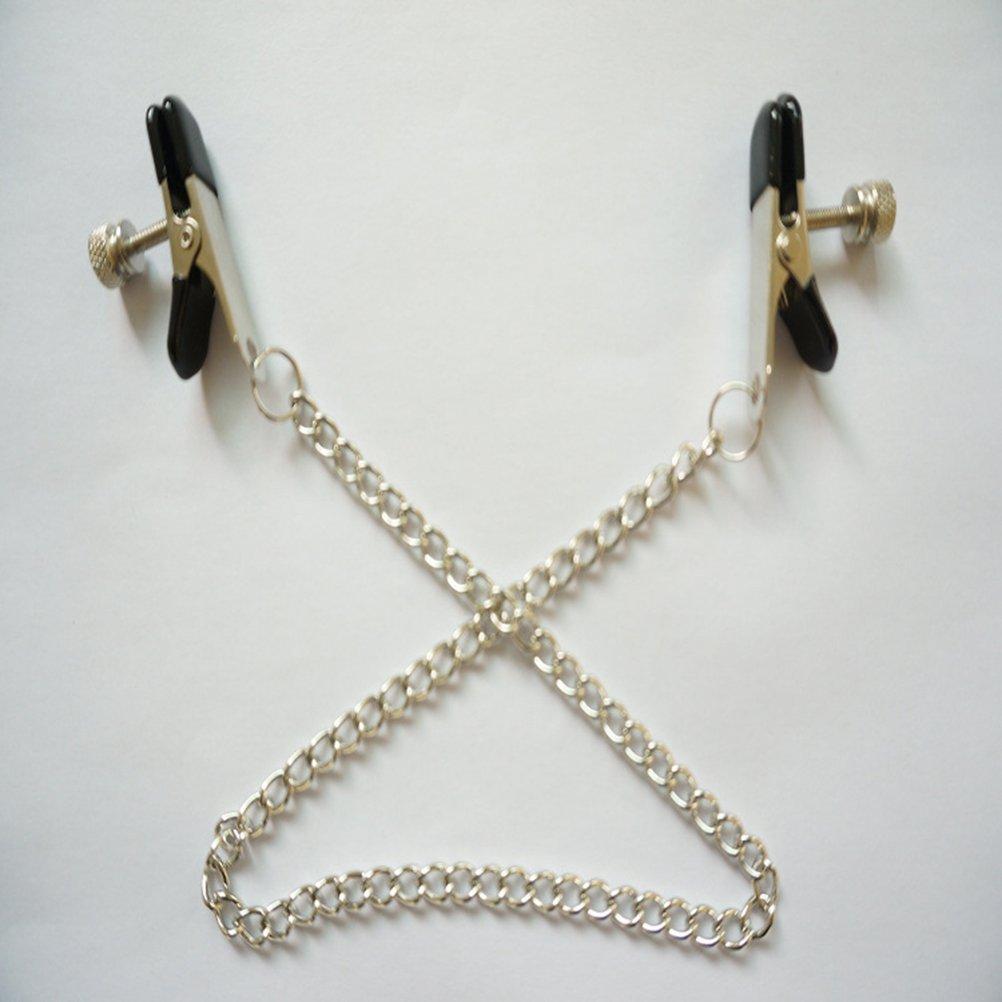 Healifty Nippelklemmen Brustklammern mit kette f/ür Erwachsene Spielzeug