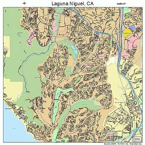Amazon Com Image Trader Large Street Road Map Of Laguna Niguel