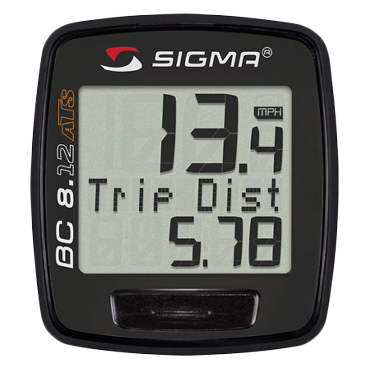 Sigma Sport BC8.12 ATS Wireless 8 Function Bicycle Computer Black 08131