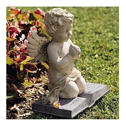 K&N35 Outdoor Praying Statue DÃcor Contemplative Cherub Baby Angel Angelic Art Home Garden Sculpture Figurine Pond Patio Lawn ()