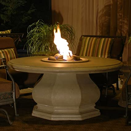 Amazoncom American Fyre ChatHeight Octagon Fire Pit Table Cafe - Octagon propane fire pit table