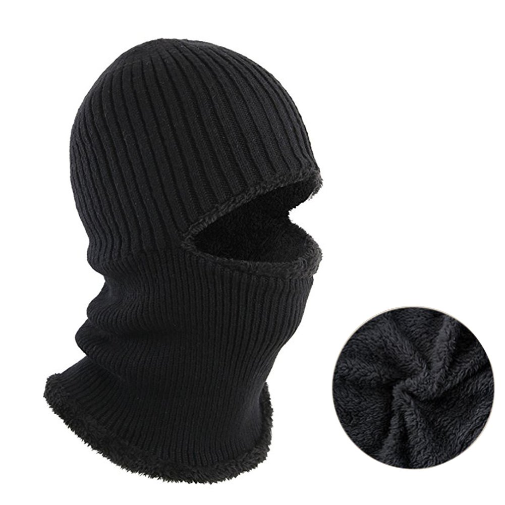 13d2803cf7f ANGTUO Winter Unisex Knitting Hat Thick Fleece Beanie Hat Anti-Cold Warm  Thick Neck Warmer Ski Mask For Cycling Hiking Camping Running Outdoor  Sport  ...