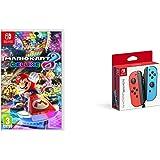 Mario Kart Deluxe 8 and Joy-Con Pair, Neon Red/Neon Blue