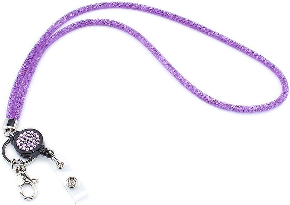 Dunkelblau 1 Pack SAVORI 32,9Bling Crystal Breakaway Sicherheitsverschluss Lanyard Strap mit einziehbaren Badge Holder ID-Kartenhalter Lanyard