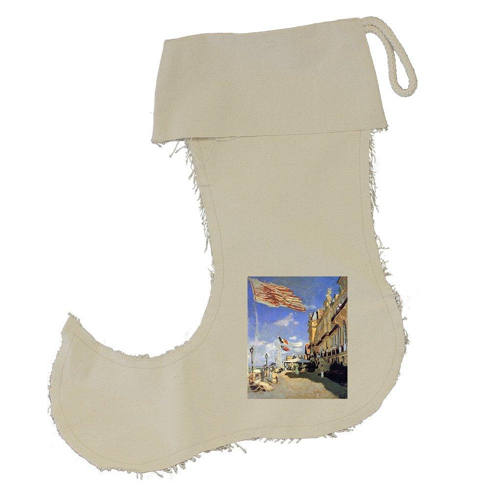 Hotel De Noires Trouville (Monet) Cotton Canvas Stocking Jester - Small