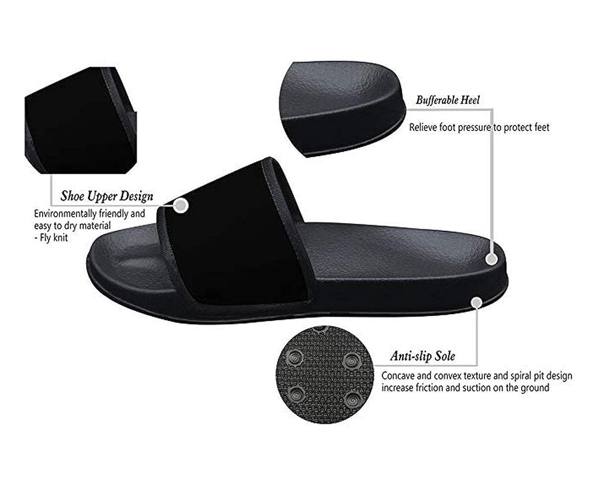 Unisex Sandals Pink Strawberry Fly Knit Anti-Slip Kids Slippers for Sneakerboy Girls Black Flip Flops