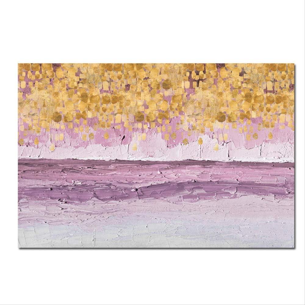 NOBRAND Cartel Abstracto De Oro Rosa Y Pintura De Lienzo De Grabado Nórdico Moderno Azul Marino Vivero Cuadros De Pared para Sala De Estar Decoración del Hogar 30X45 Cm Sin Marco
