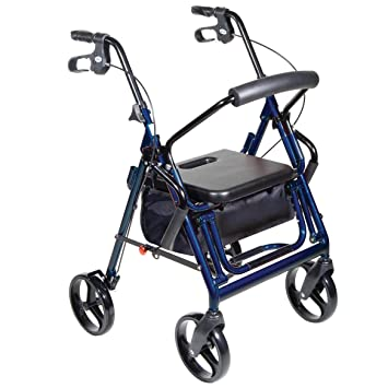 Amazon.com: Andador y silla de transporte en 1, Color Azul ...